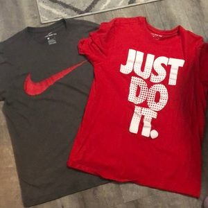 Two Nike T-shirts! (Both medium!)